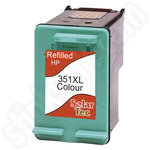 Refilled High Capacity HP 351XL Ink Cartridge