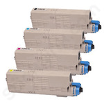 Remanufactured Multipack of Oki 4650750 Toner Cartridges
