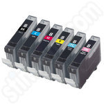 Compatible Six Cartridge Multipack of Canon CLi-8 Ink Cartridges