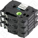 Compatible Triple Pack of Brother TZe-231 Black on White Tapes