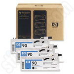 Triple Pack of High Capacity HP 90 Black Ink Cartridges