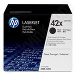 Twin pack of High Capacity HP 42X Toner Cartridges