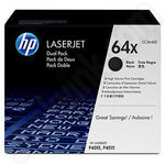 Twin pack of High Capacity HP 64X Toner Cartridges