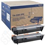 Twinpack of Brother High Capacity TN3380 Black Toner Cartridges