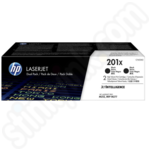Twinpack of High Capacity HP 201X Black Toner Cartridges