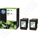 Twinpack of High Capacity HP 301XL Black Ink Cartridges
