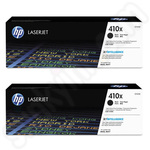 Twinpack of High Capacity HP 410X Black Toner Cartridges