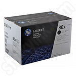 Twinpack of High Capacity HP 80X Black Toner Cartridges