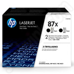 Twinpack of high Capacity HP 87X Black Toner Cartridges