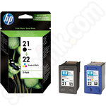 Twinpack of HP 21 and 22 Ink Cartridges