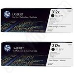 Twinpack of High Capacity HP 312X Black Toner Cartridges