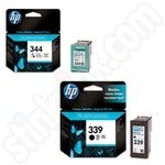 Twinpack of HP 339 & 344 Ink Cartridges