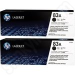 Twinpack of HP 83A Black Toner Cartridges